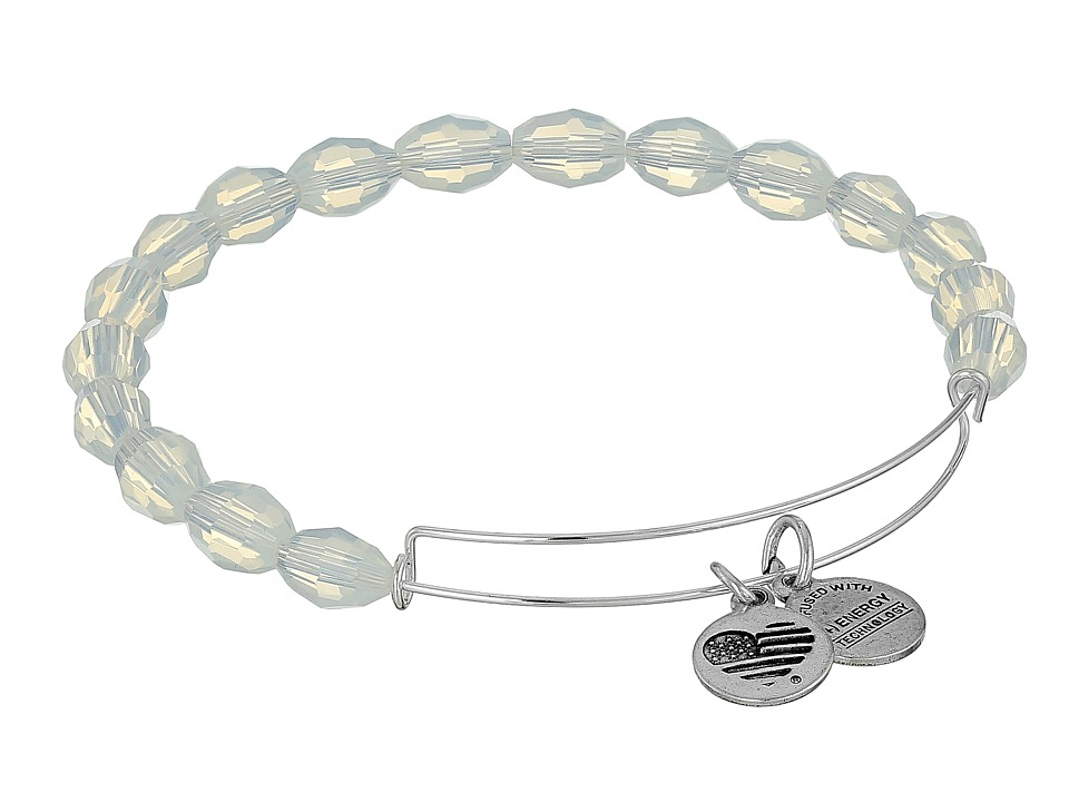 Alex and Ani - Retro Glam Serenity Expandable Bangle (Pearly Light/Silver) Bracelet