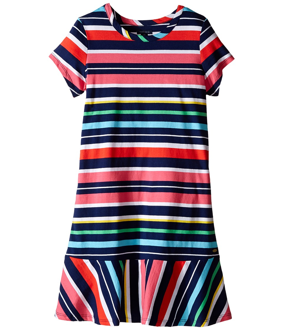 Tommy Hilfiger Kids - Y/D Jersey Multi Stripe Dress (Big Kid) (Flag Blue) Girl
