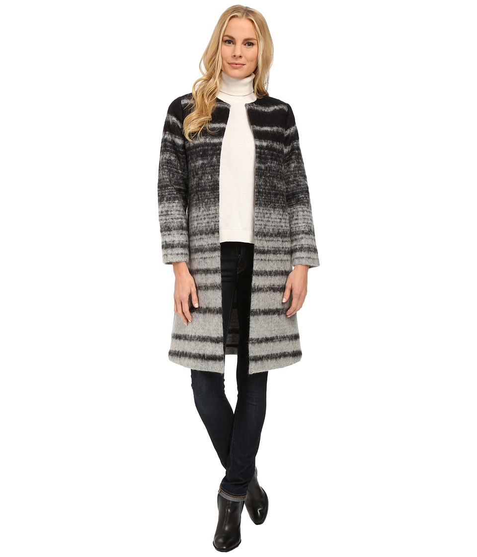 Pendleton - Ursula Topper Coat (Grey Ombre Stripe Jacquard) Women's Coat