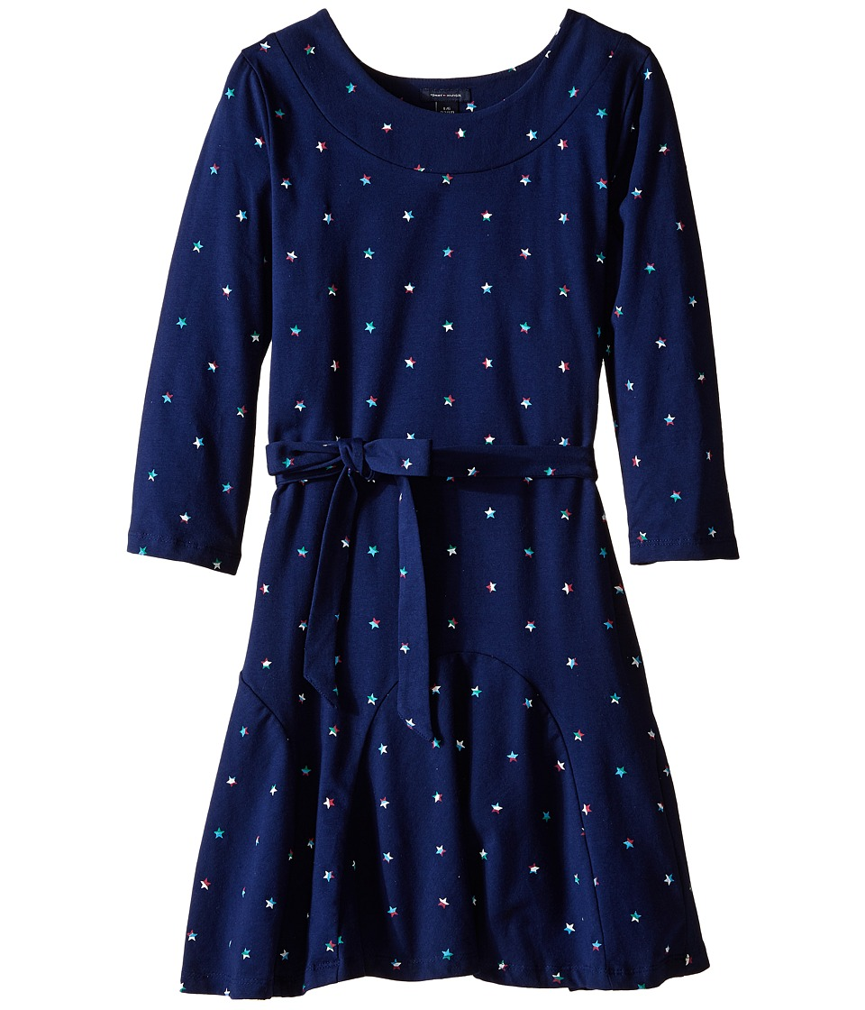 Tommy Hilfiger Kids - Printed Jersey Dress w/Spandex (Big Kid) (Flag Blue) Girl's Dress