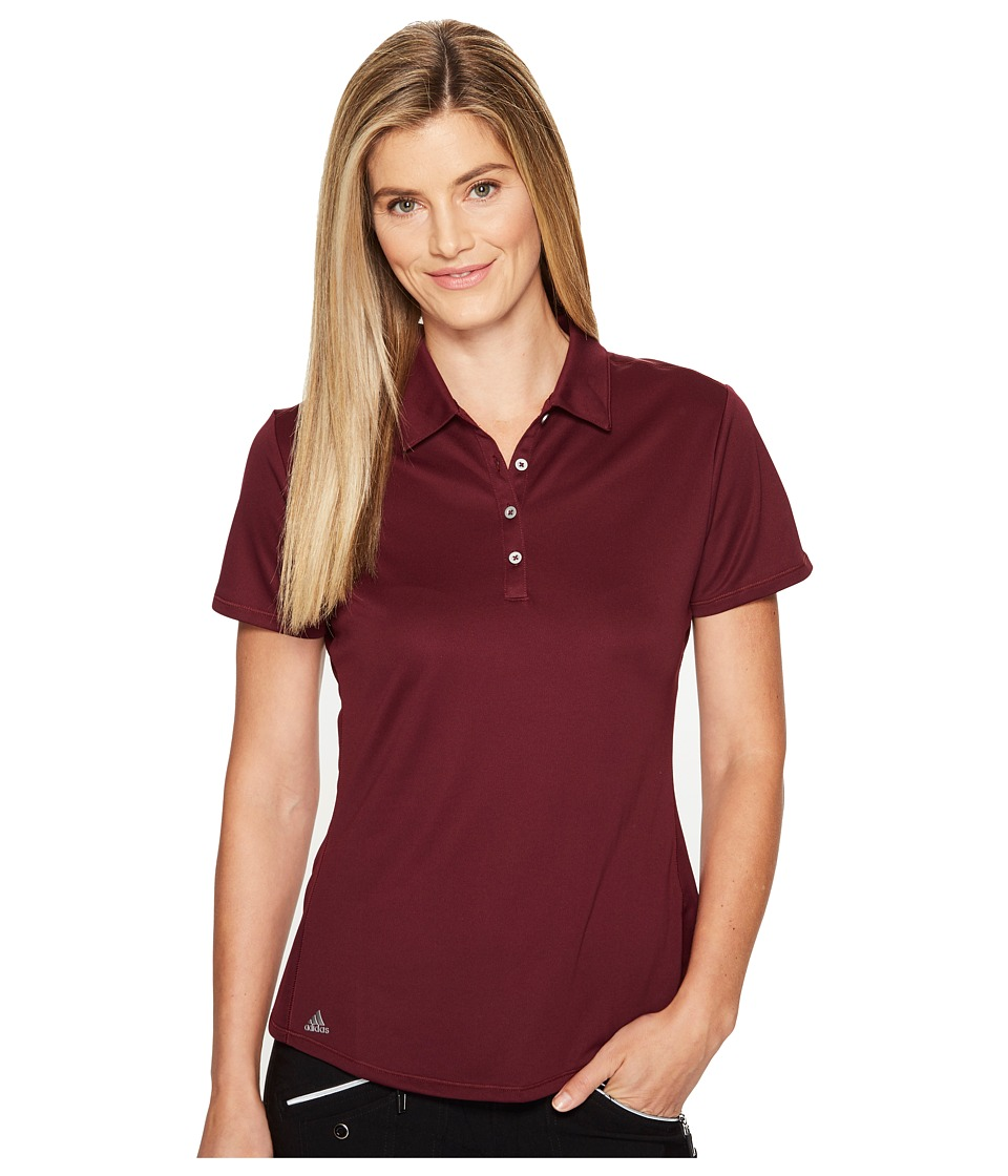 adidas Golf - Puremotion Short Sleeve Top (Maroon) Women's Short Sleeve Button Up