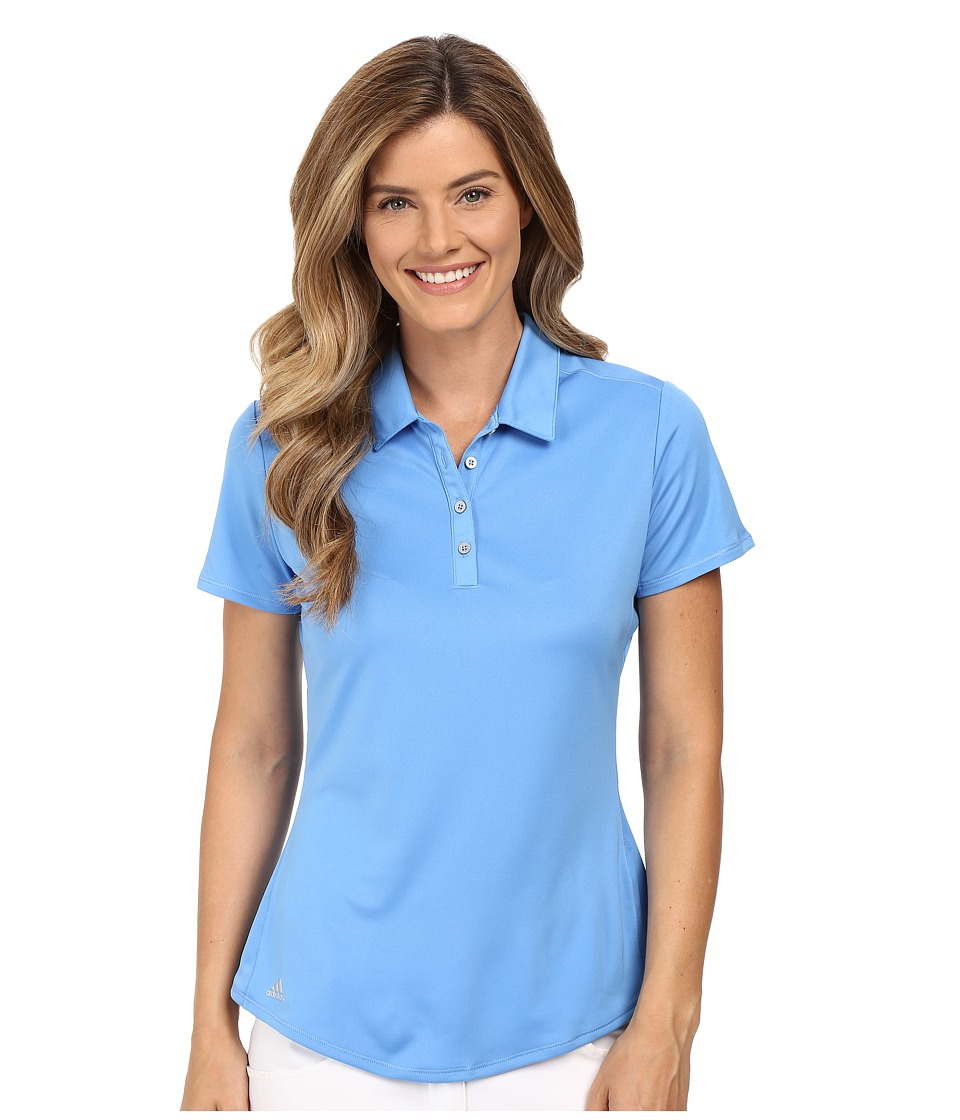 adidas Golf - Puremotion Short Sleeve Top (Lucky Blue) Women's Short Sleeve Button Up