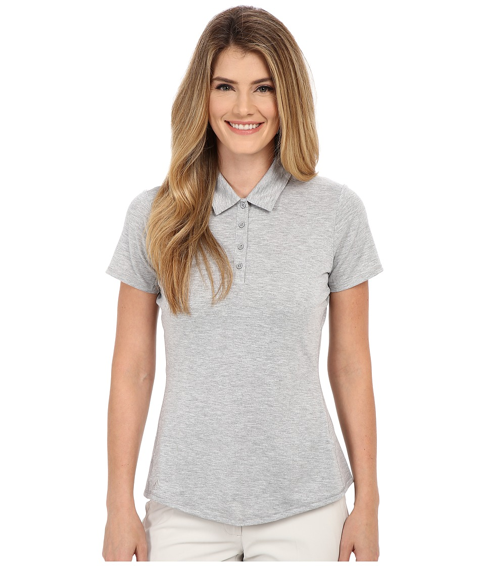 adidas Golf - Essentials Heather Short Sleeve Polo (Medium Grey Heather) Women's Short Sleeve Knit