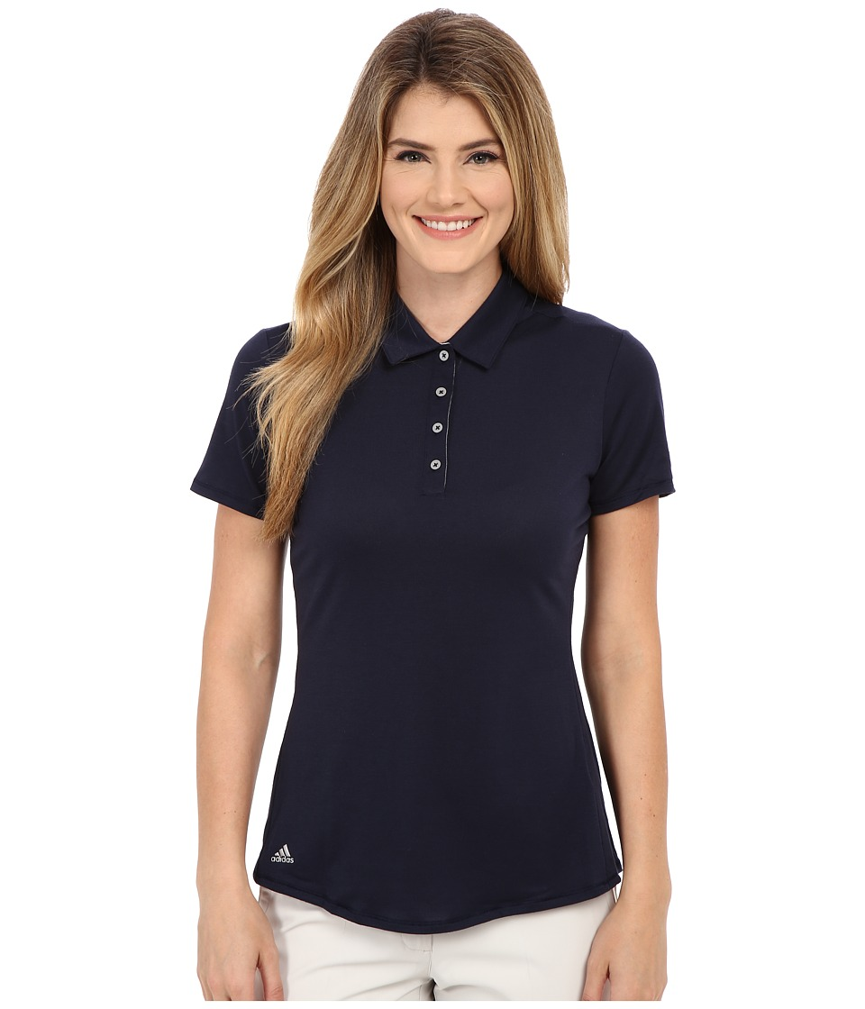 adidas Golf - Essentials Heather Short Sleeve Polo (Navy) Women's Short Sleeve Knit