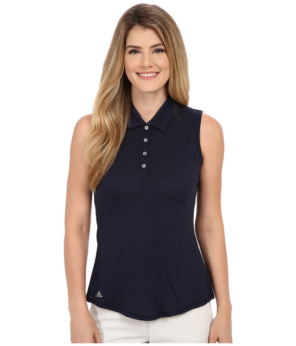 adidas Golf - Essentials Heather Sleeveless Polo (Navy) Women's Sleeveless