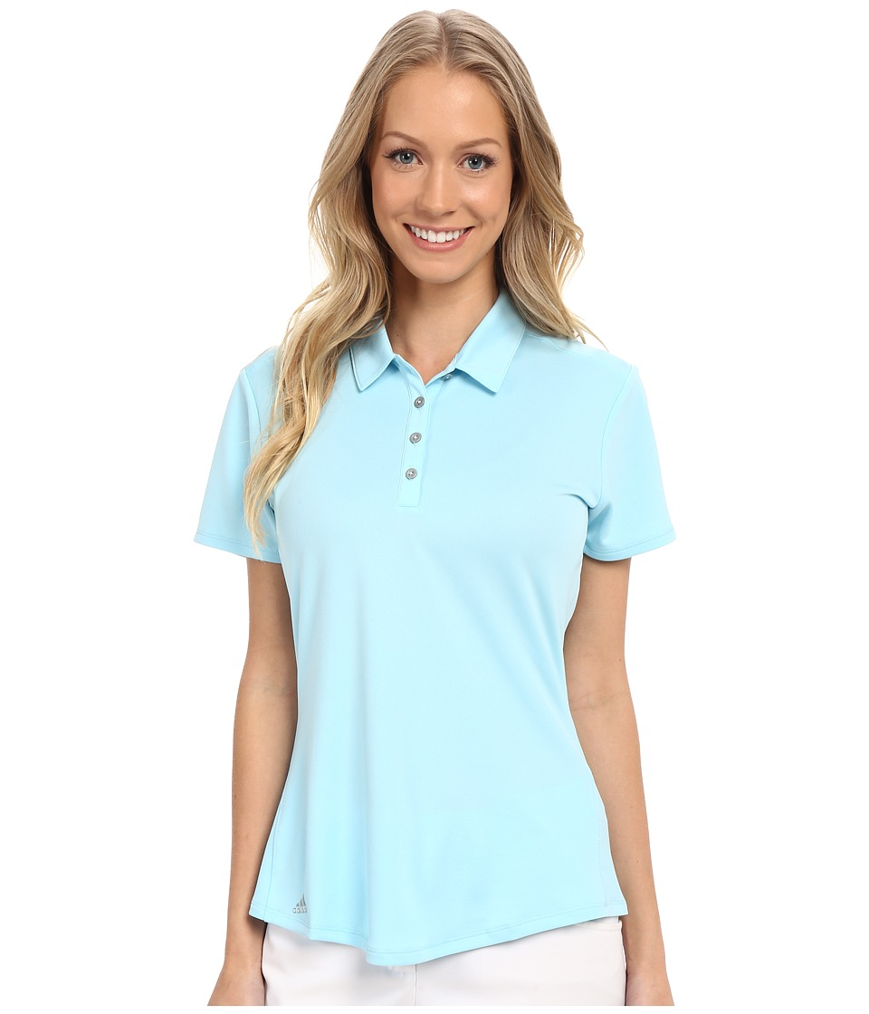 adidas Golf - Puremotion Short Sleeve Top (Frost Blue) Women's Short Sleeve Button Up