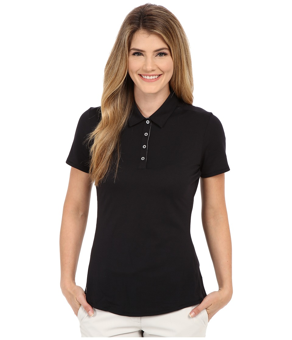 adidas Golf - Essentials Heather Short Sleeve Polo (Black) Women's Short Sleeve Knit