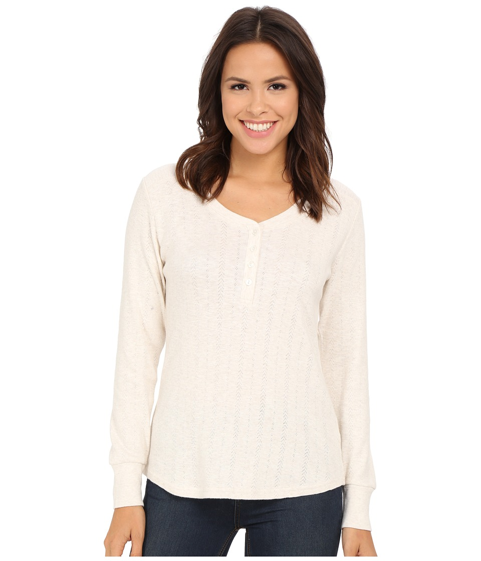 Pendleton - Hadley Henley Tee (Ivory Heather) Women