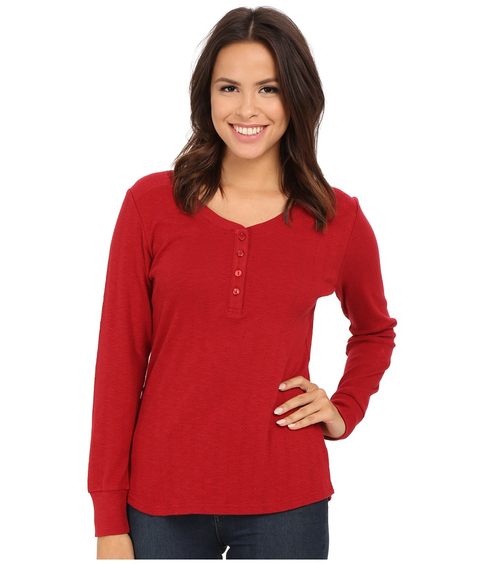 Pendleton - Hadley Henley Tee (Red Rock) Women