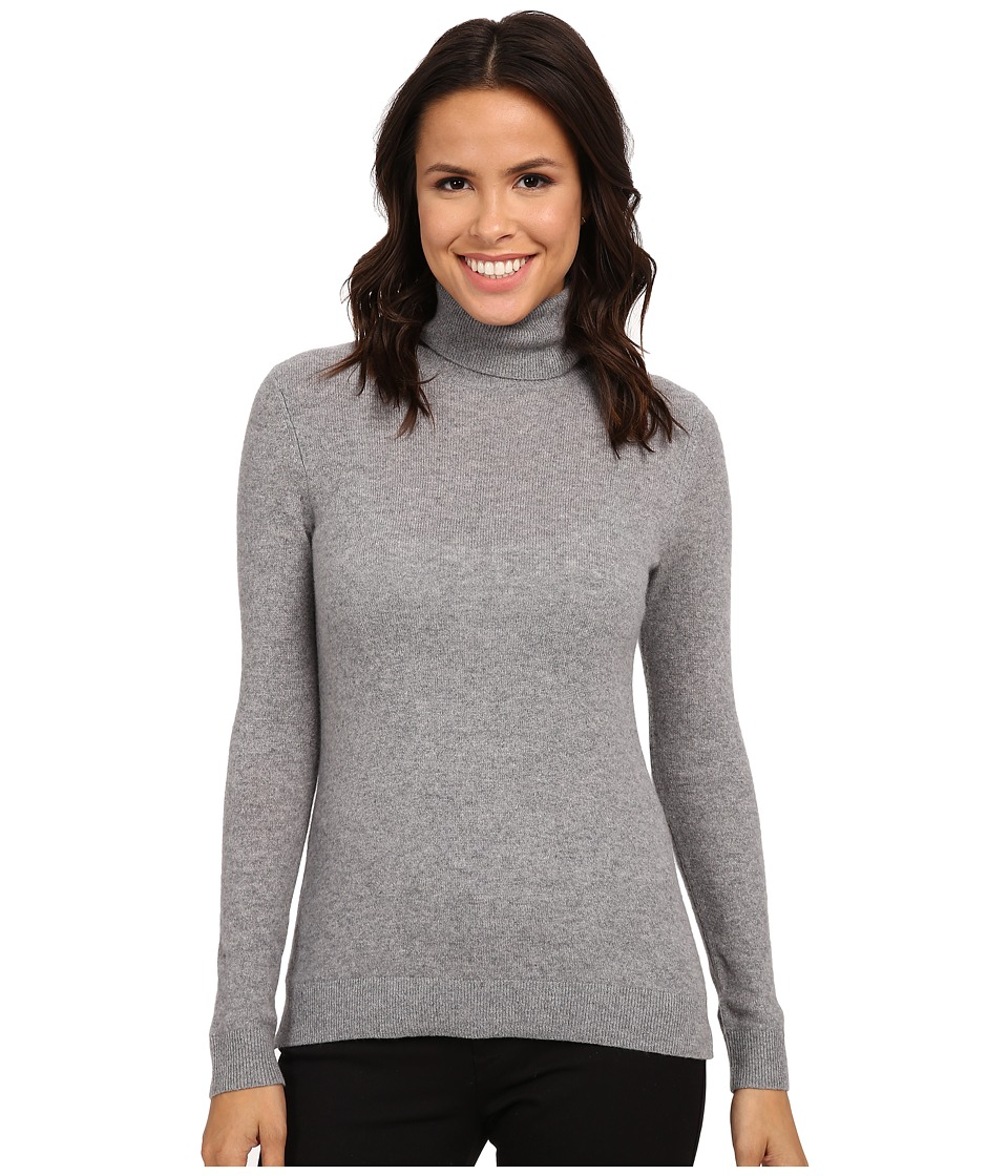 Pendleton - Turtleneck (Soft Grey Heather) Women's Long Sleeve Pullover