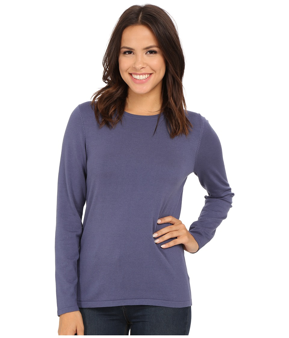 Pendleton - Jewel Neck Pullover (Blue Indigo) Women's Clothing