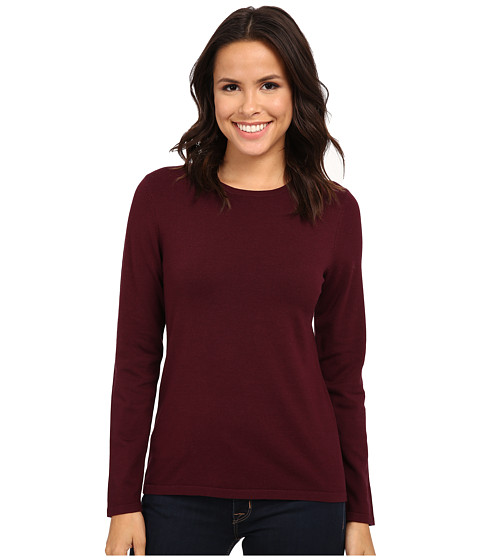 Pendleton - Jewel Neck Pullover (Zinfandel) Women's Clothing