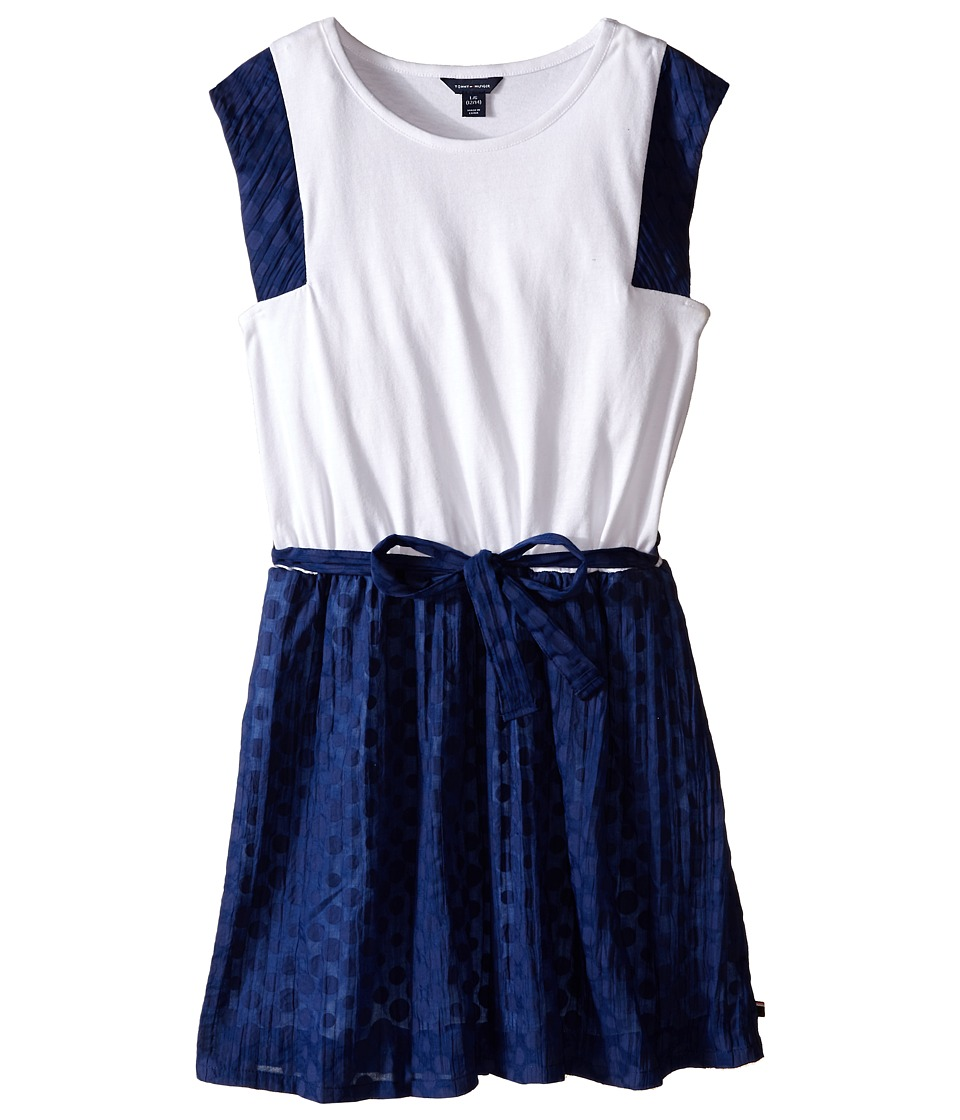 Tommy Hilfiger Kids - Burn Out Voile and Jersey Dress (Big Kid) (Flag Blue) Girl's Dress