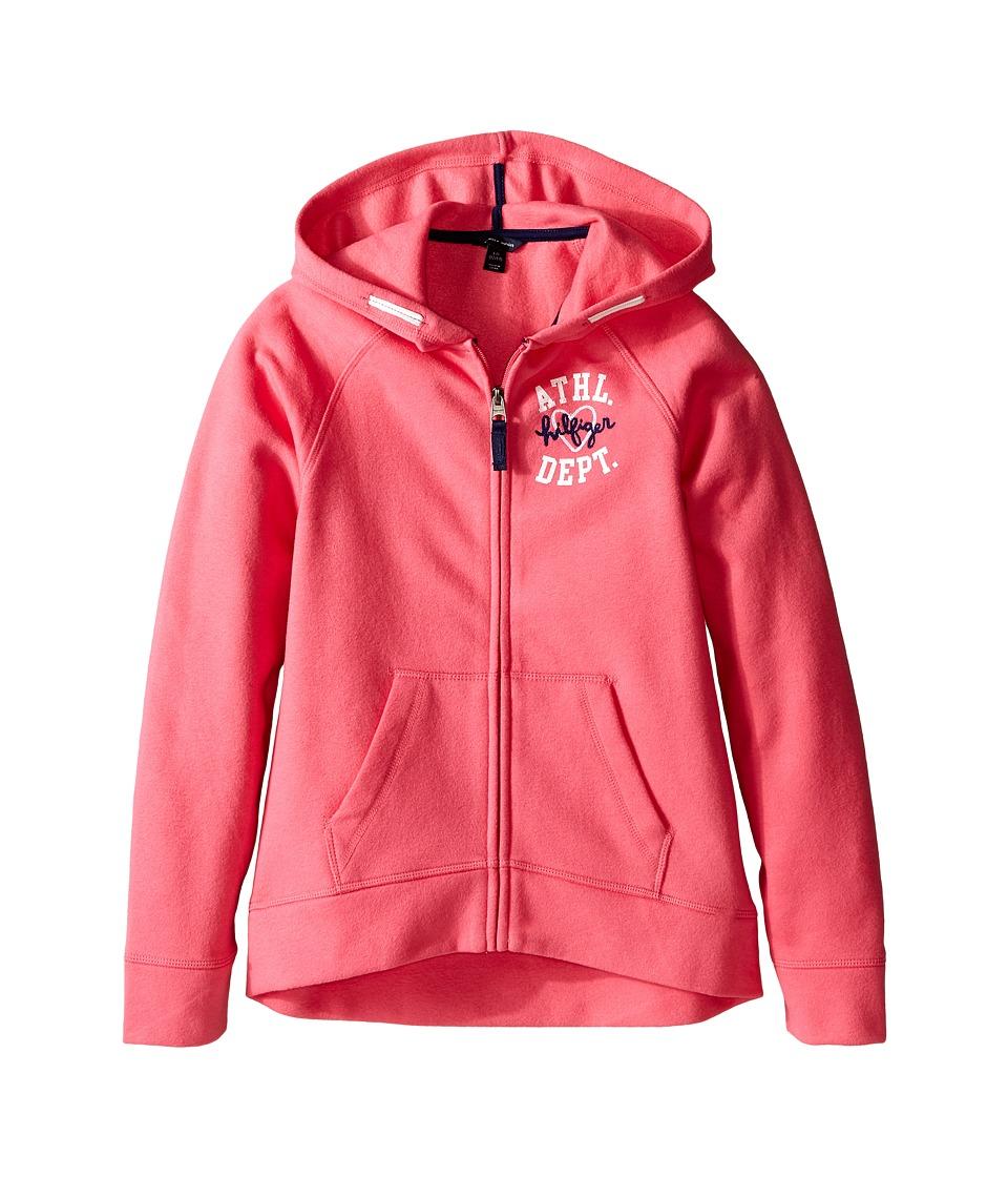 Tommy Hilfiger Kids - Pull Over Fleece Hoodie (Big Kid) (Spris Pink) Girl