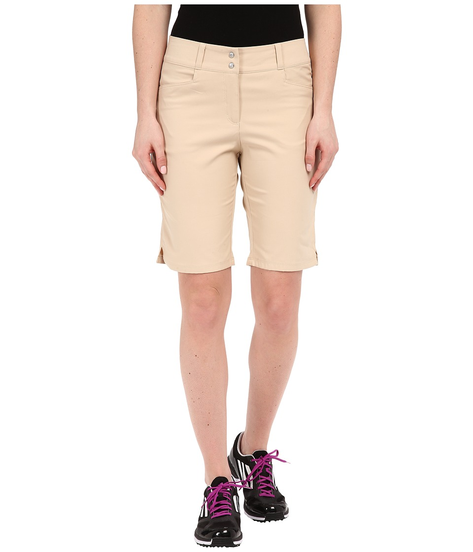 adidas Golf - Essentials Lightweight Bermuda Shorts (Light Khaki) Women's Shorts plus size,  plus size fashion plus size appare