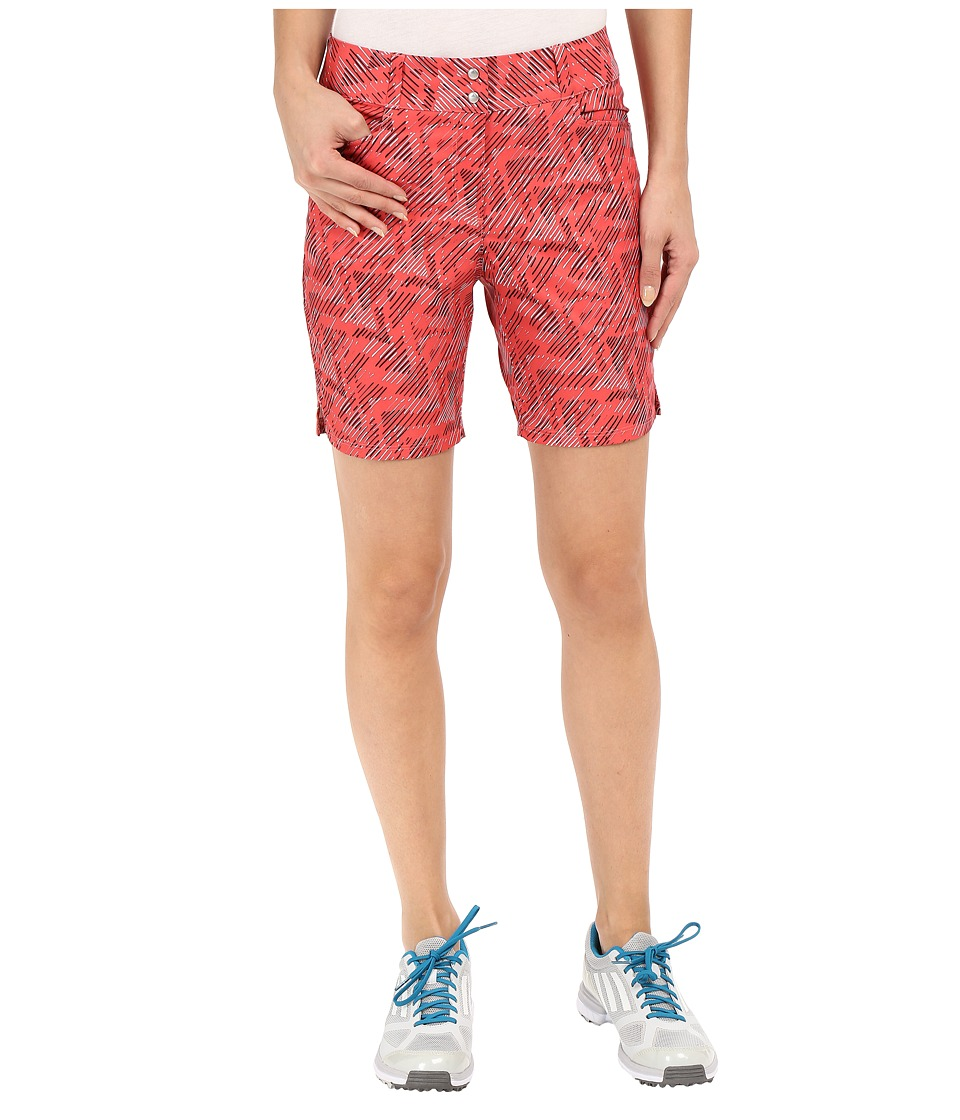 adidas Golf - Printed 7 Shorts (Sunset Coral) Women's Shorts