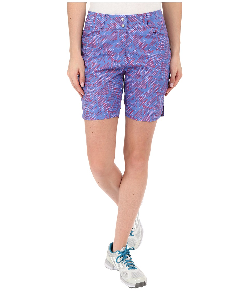 adidas Golf - Printed 7 Shorts (Baja Blue) Women's Shorts