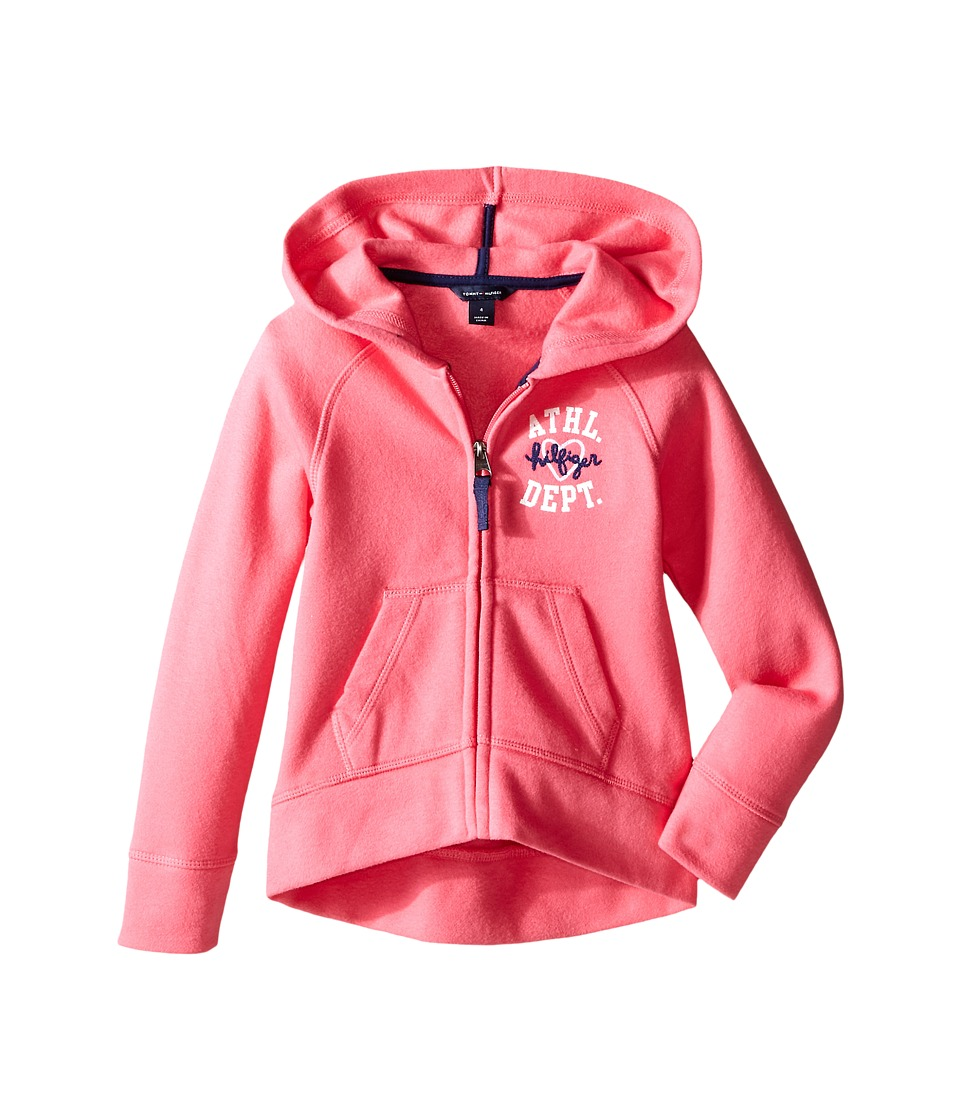 Tommy Hilfiger Kids - Pull Over Fleece Hoodie (Little Kid) (Spris Pink) Girl's Sweater