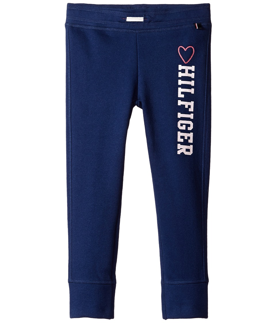 Tommy Hilfiger Kids - Hilfiger Fleece Pants (Little Kid) (Flag Blue) Girl's Clothing