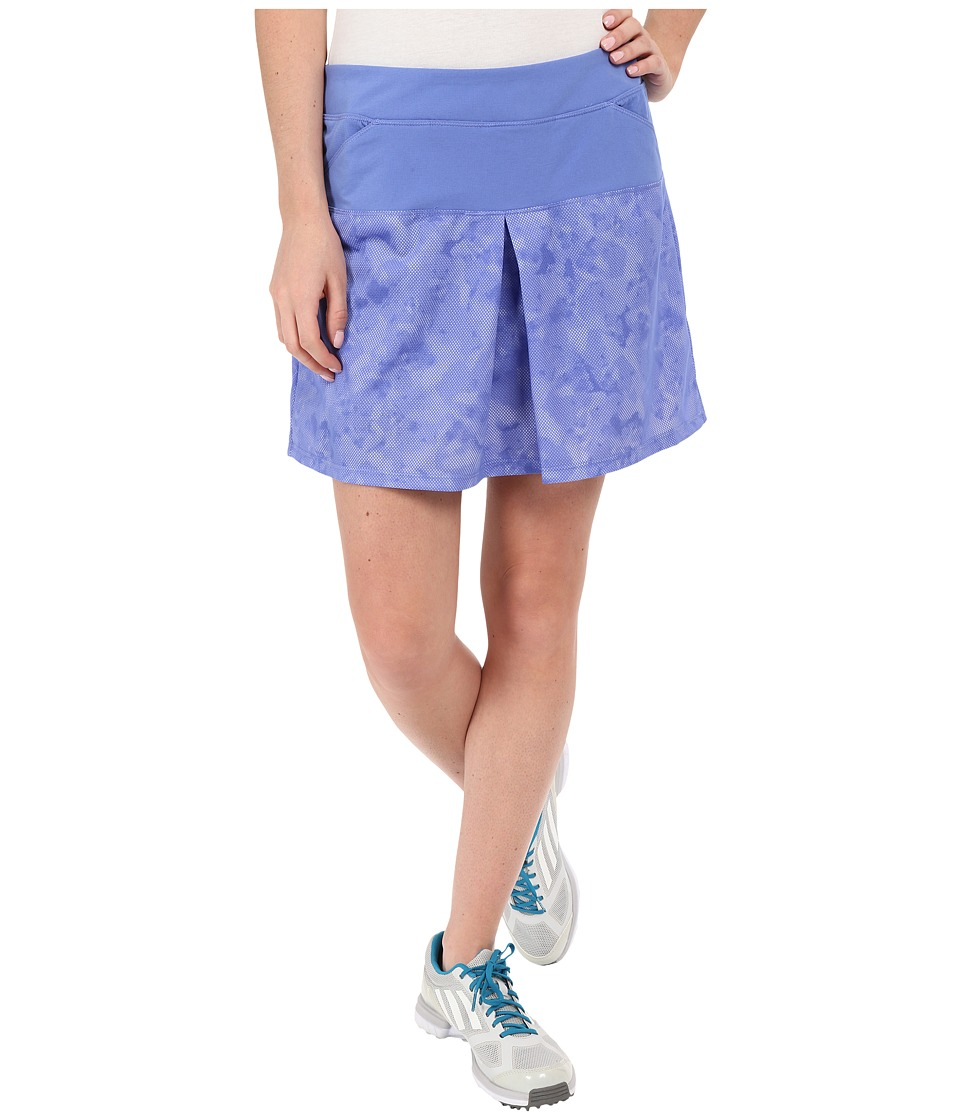 adidas Golf Tour Mixed Print Pull On Skort (Baja Blue) Women