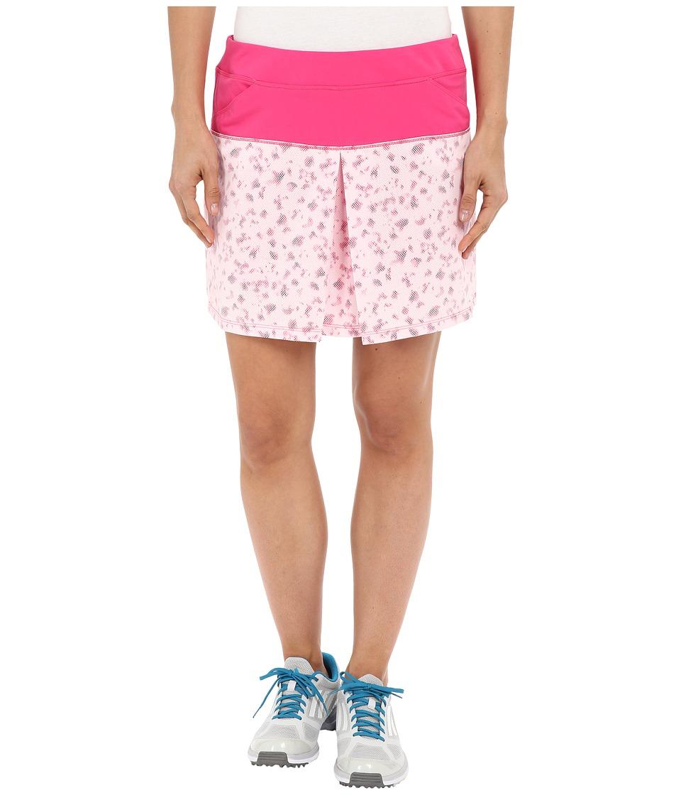 adidas Golf - Tour Mixed Print Pull On Skort (Raspberry Rose) Women's Skort