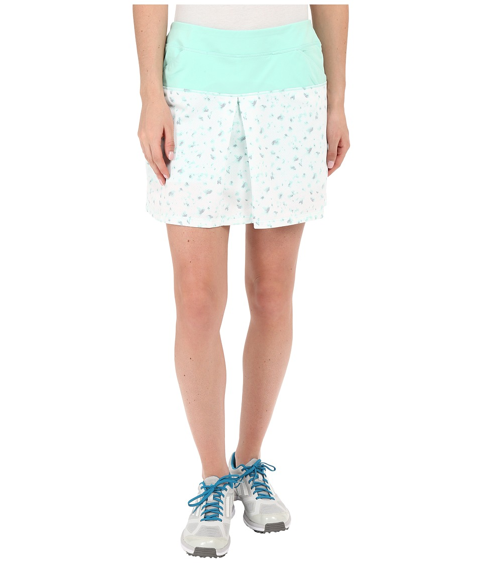 adidas Golf - Tour Mixed Print Pull On Skort (Mint Burst) Women's Skort