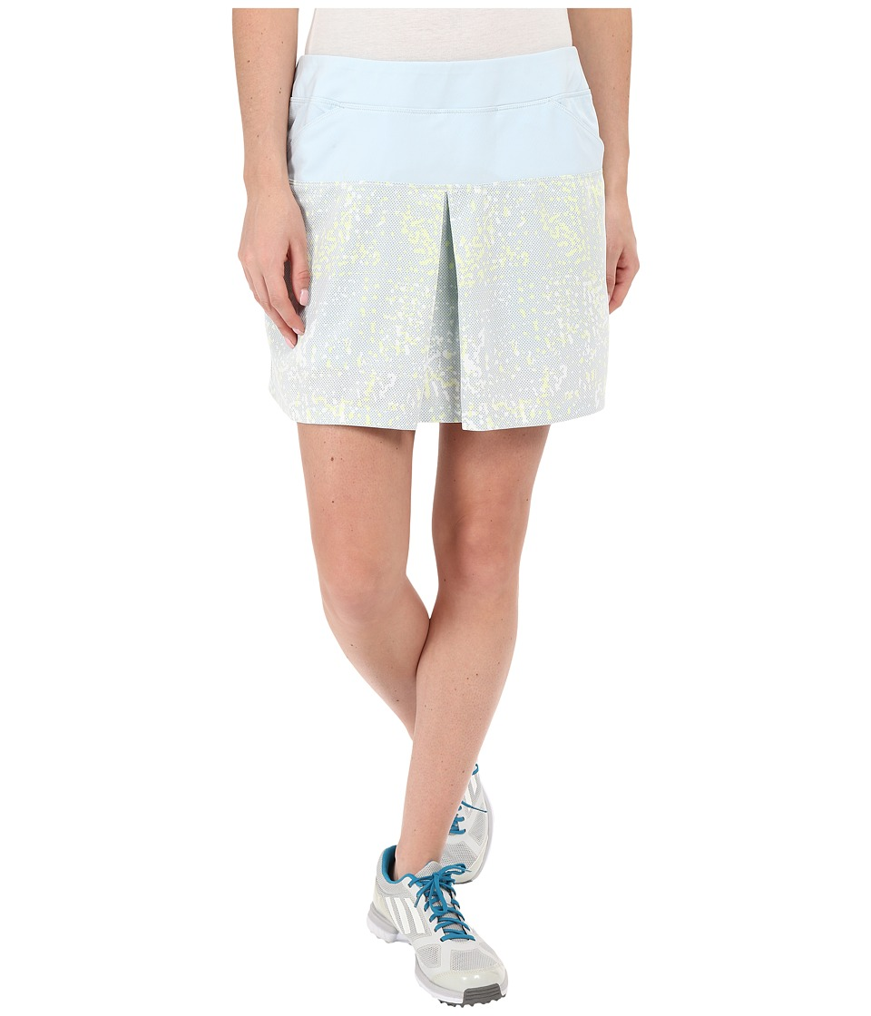 adidas Golf - Tour Mixed Print Pull On Skort (Soft Blue) Women's Skort