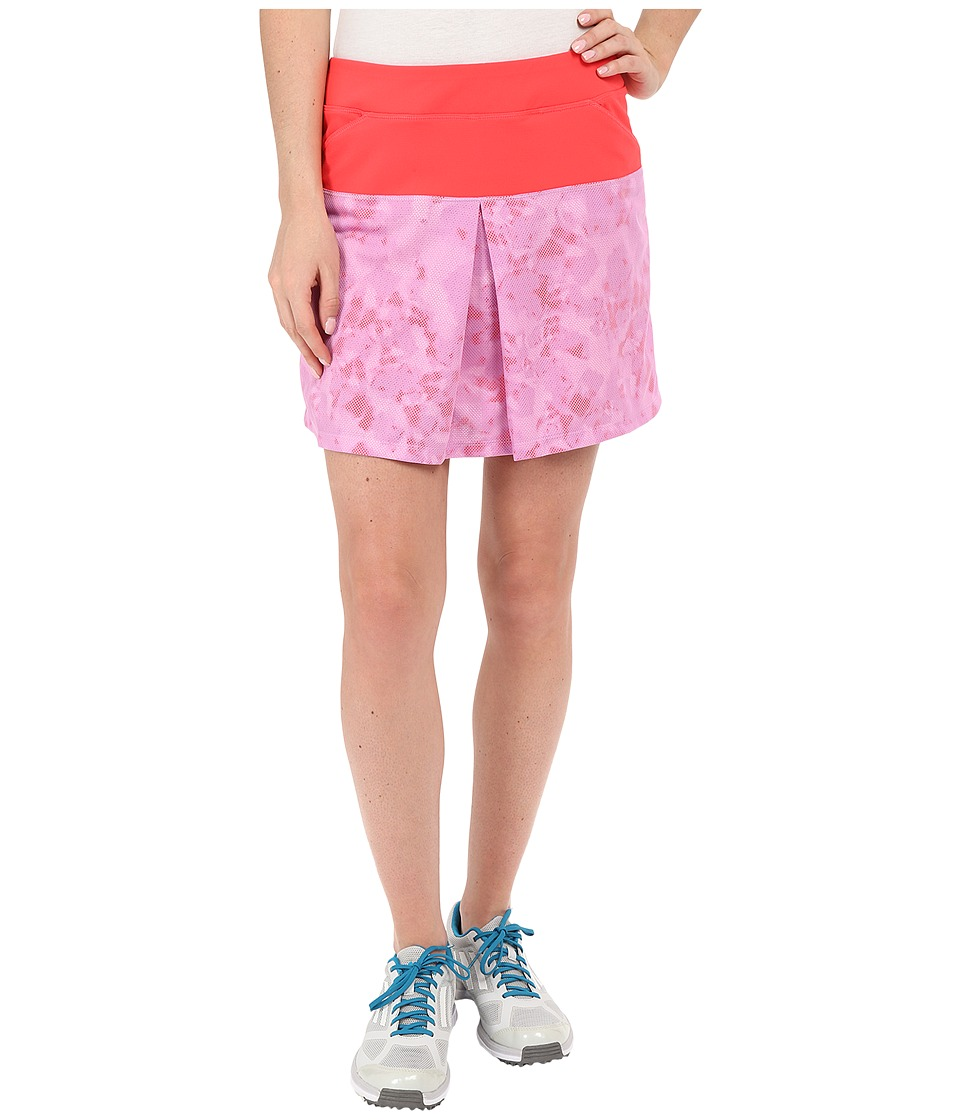 adidas Golf Tour Mixed Print Pull On Skort (Shock Red) Women