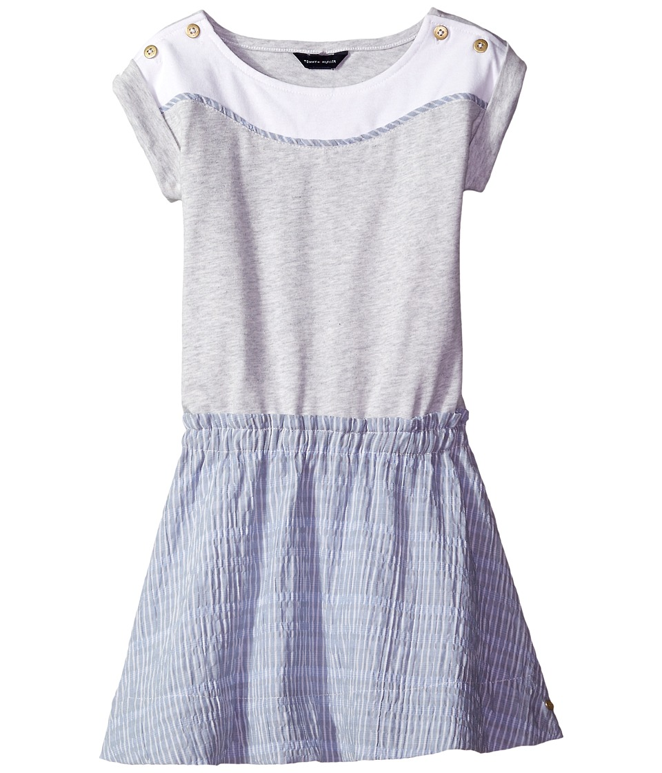 Tommy Hilfiger Kids - Mix Media Dress (Little Kid) (Storm Heather) Girl's Dress