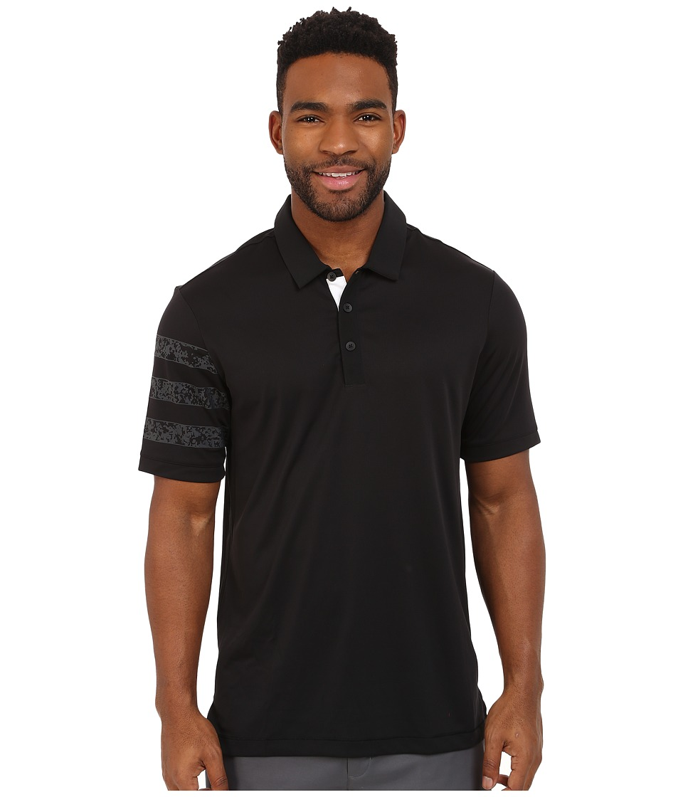 adidas Golf - CLIMACHILL Camo Competition Polo (Black) Men's Clothing