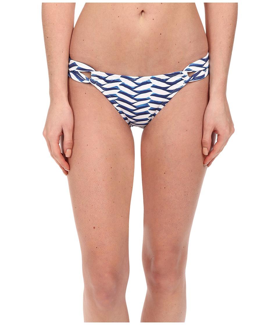 Shoshanna - Pleated Waves Loop Bottoms (Blue/White) Women's Swimwear
