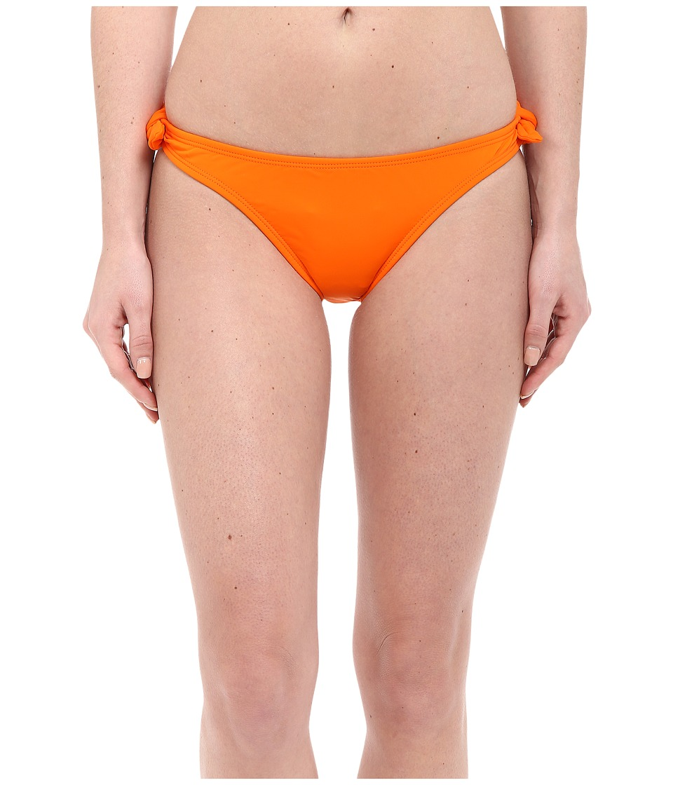Shoshanna - Solid Papaya Bow Bottoms (Papaya) Women's Swimwear