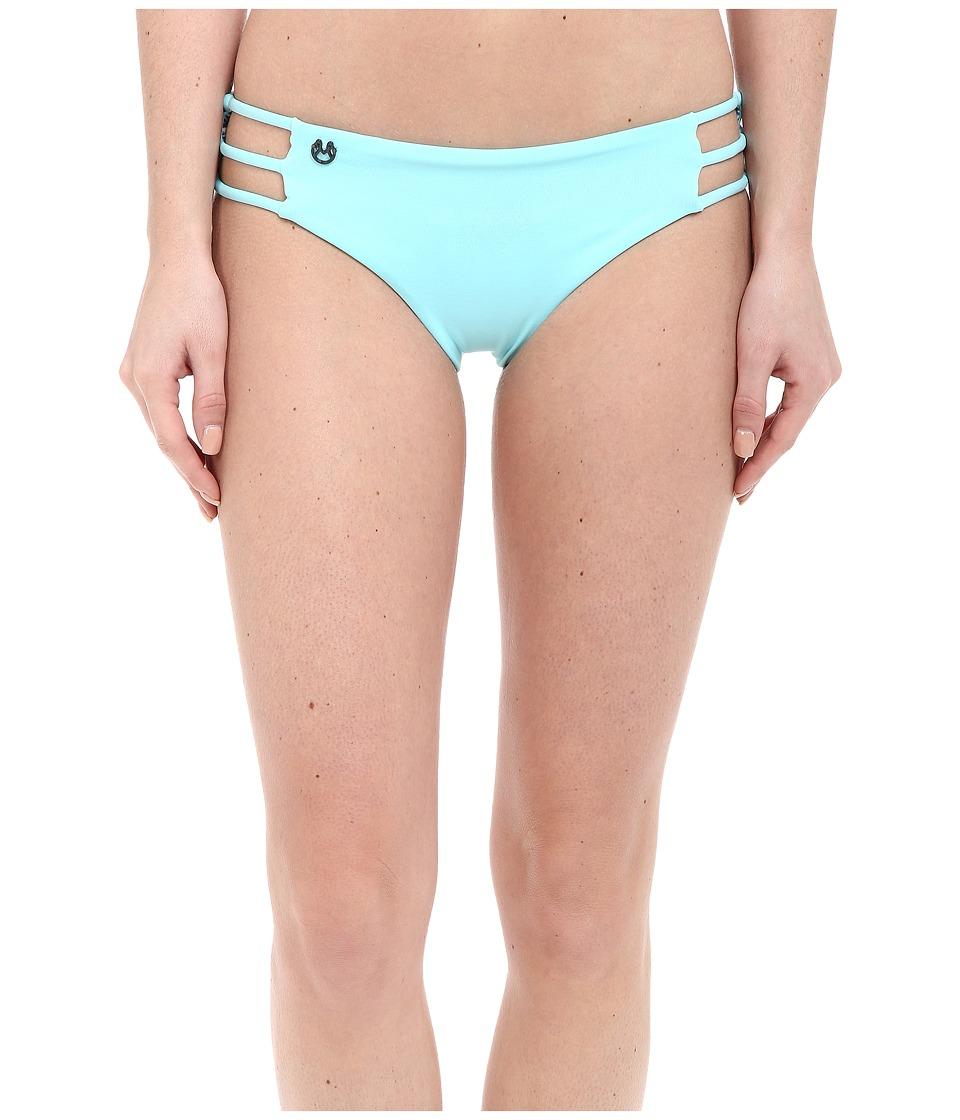 Maaji - Pale Turquoise Waterfalls Cheeky Cut Bottom (Turquoise) Women's Swimwear