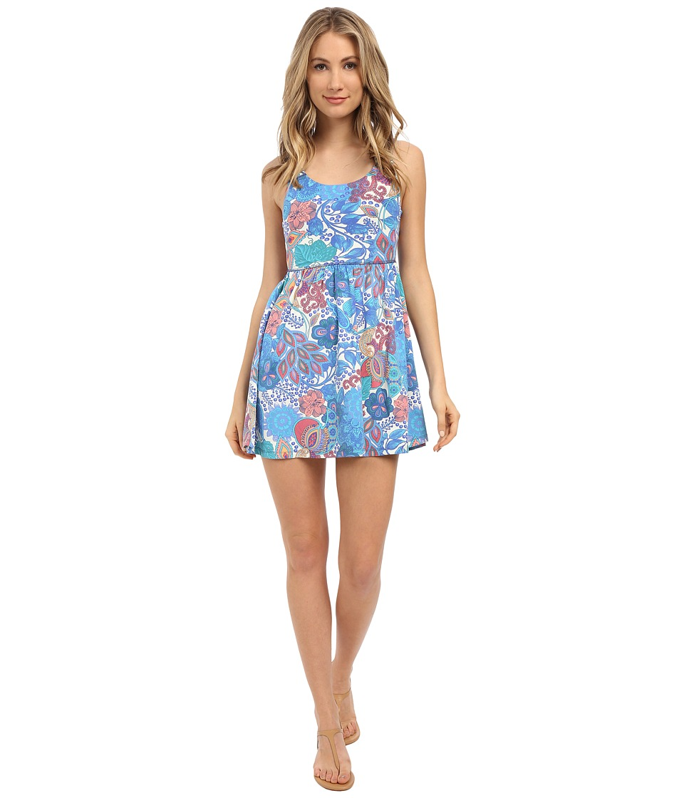 Maaji Azure Macrame Cover Up Short Dress Multi Swimwear