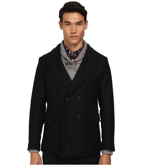 Billy Reid - Bond Peacoat (Navy) Men's Coat