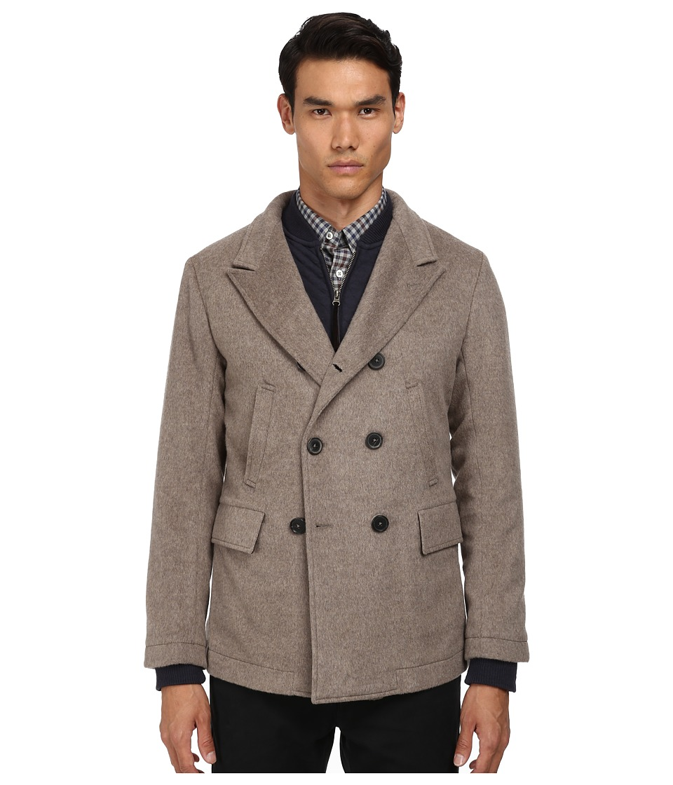 Billy Reid - Bond Peacoat (Tan) Men's Coat
