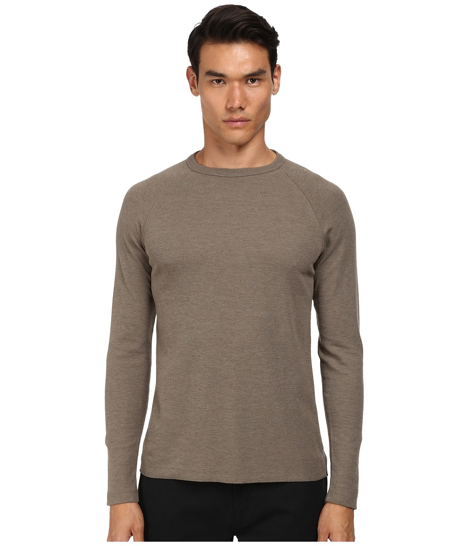 Billy Reid - Honeycomb Crew (Mud Grey) Men's Sweater
