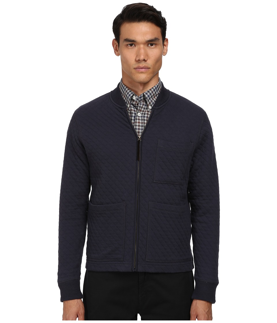 Billy Reid - Ethan Zip Through (True Navy) Men's Sweater