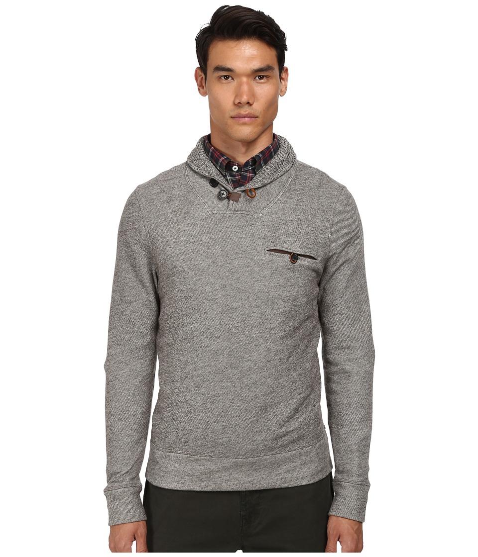 Billy Reid - Shiloh Shawl Melange (Brown/Natural) Men's Sweater