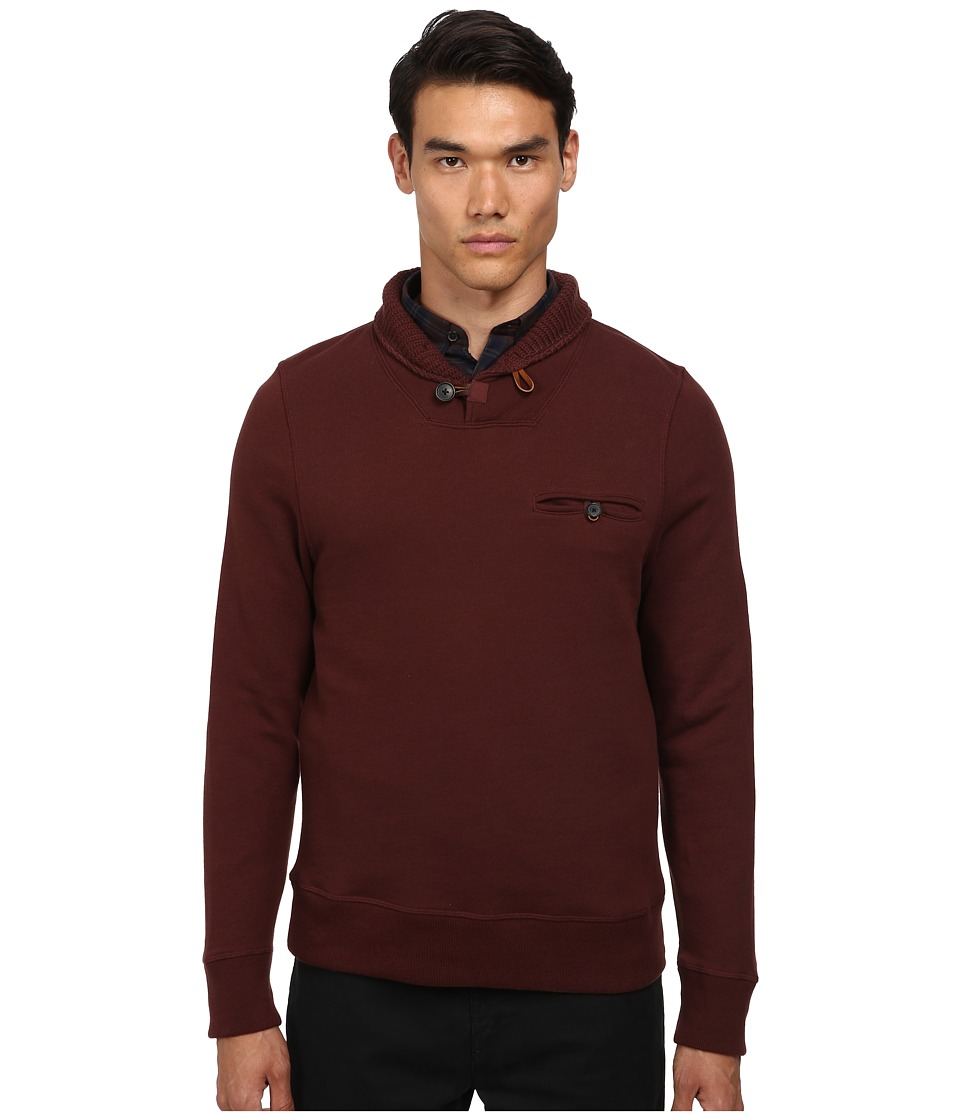 Billy Reid - Shiloh Shawl (Oxblood) Men's Sweater