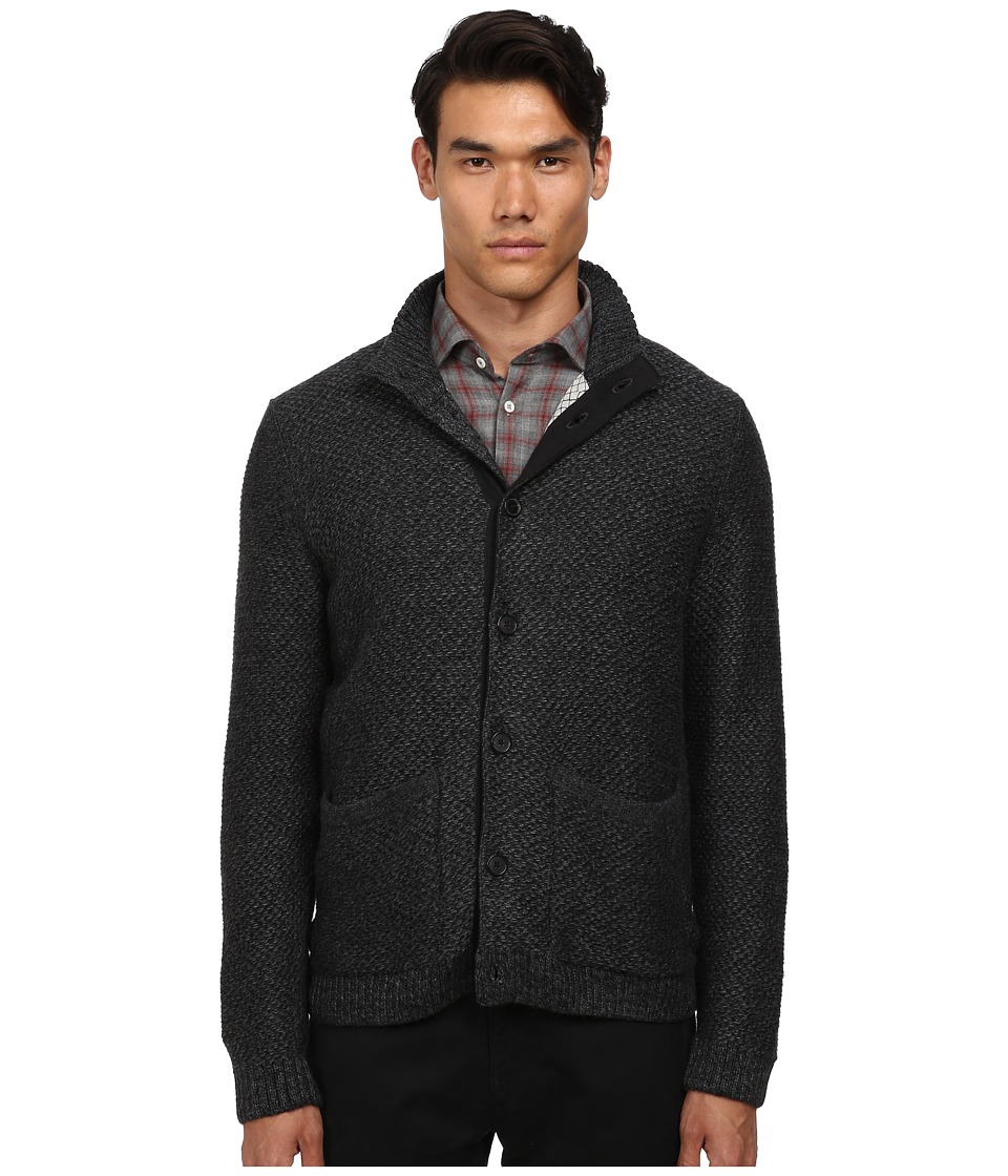 Billy Reid - Fisherman Cardigan Sweater (Melange Grey) Men
