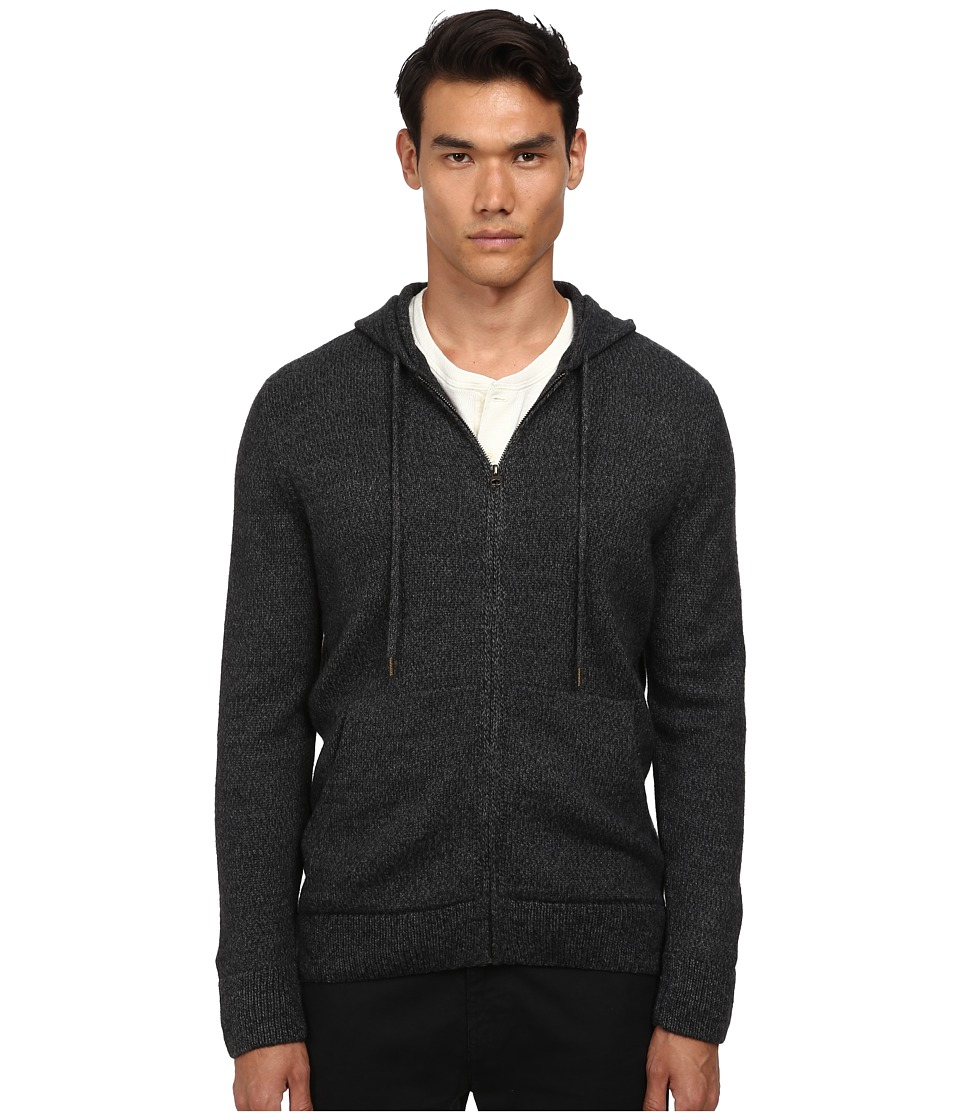 Billy Reid - Zip Through Hoodie (Melange Grey) Men's Sweater plus size,  plus size fashion plus size appare