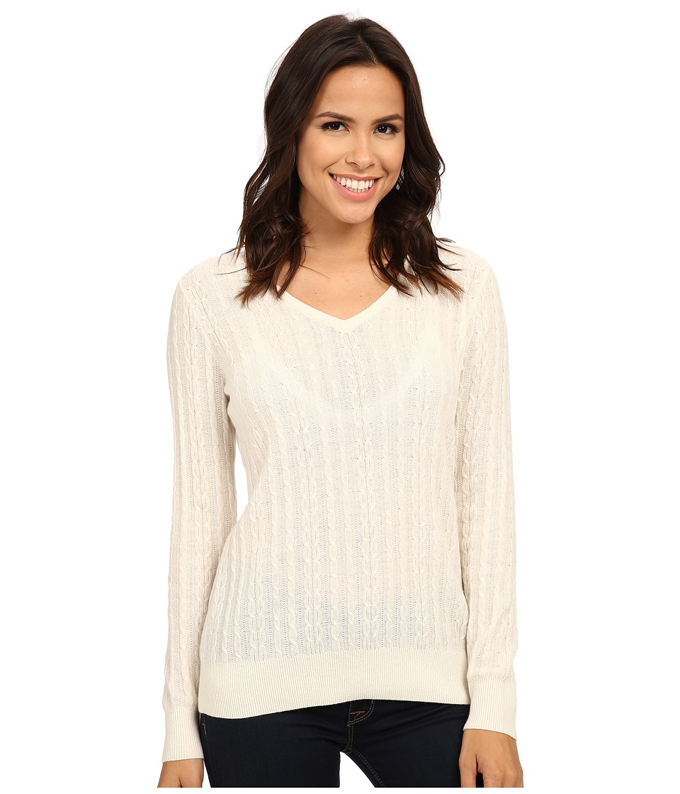 Pendleton - Cable Pullover (Ivory) Women
