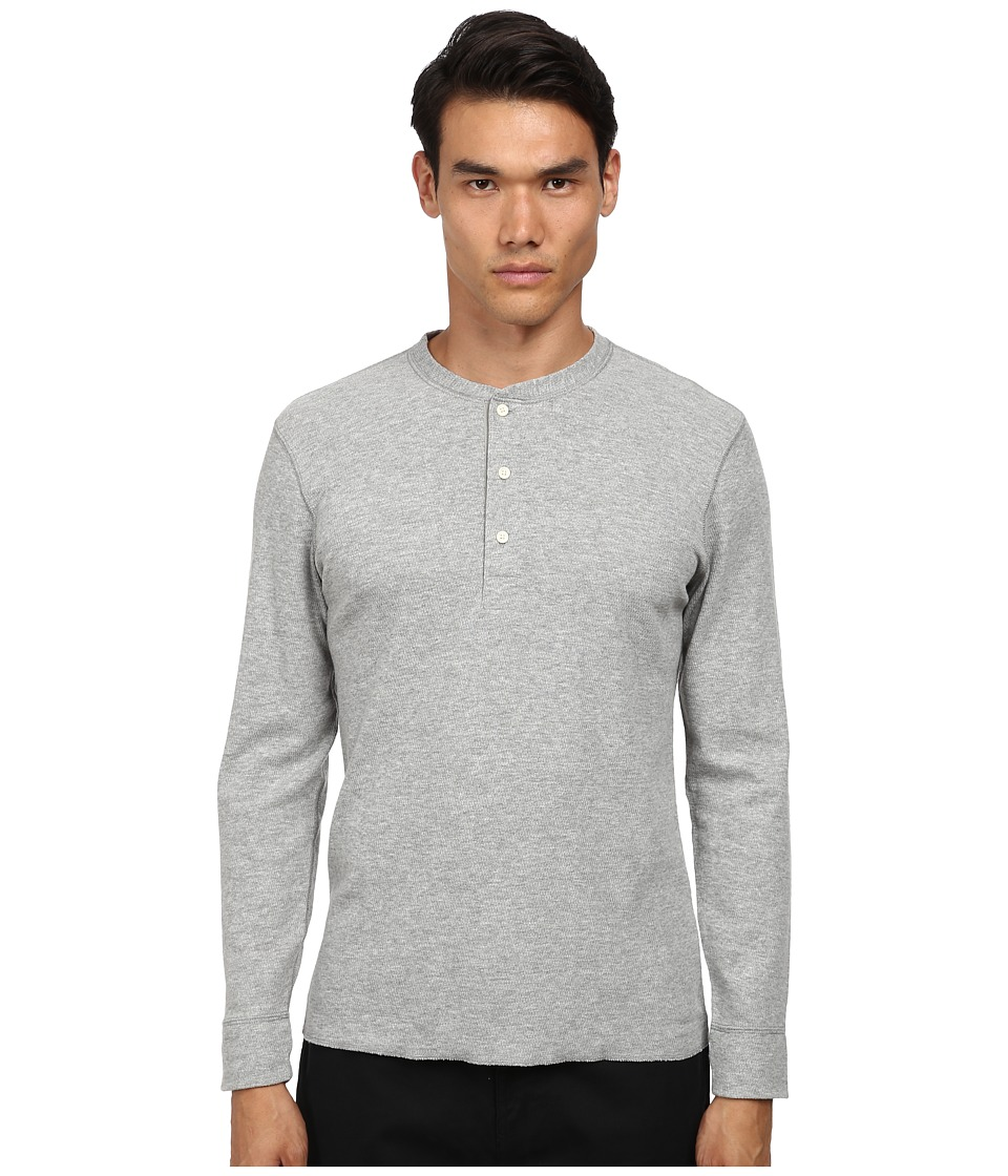 Billy Reid - Hunter Henley (Light Heather Grey) Men