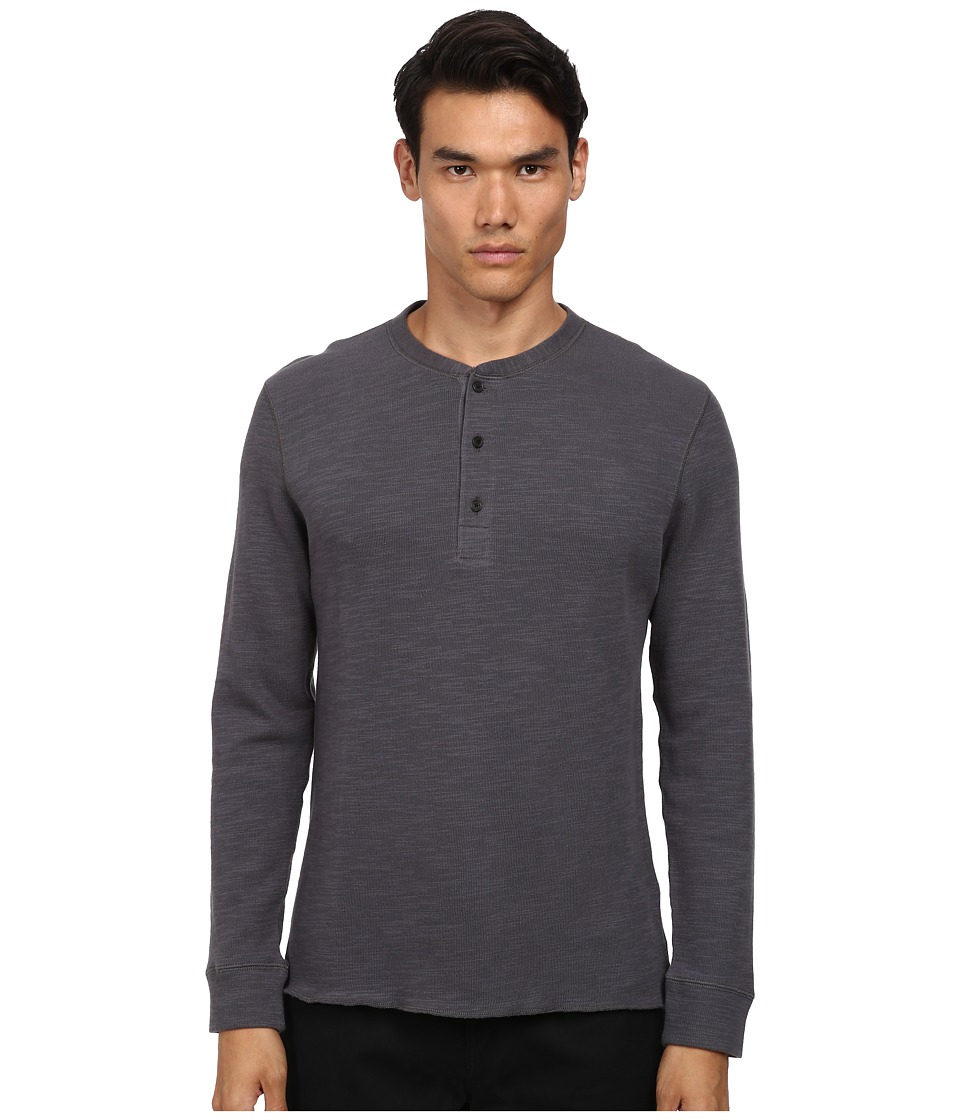 Billy Reid - Hunter Henley (Charcoal Grey) Men