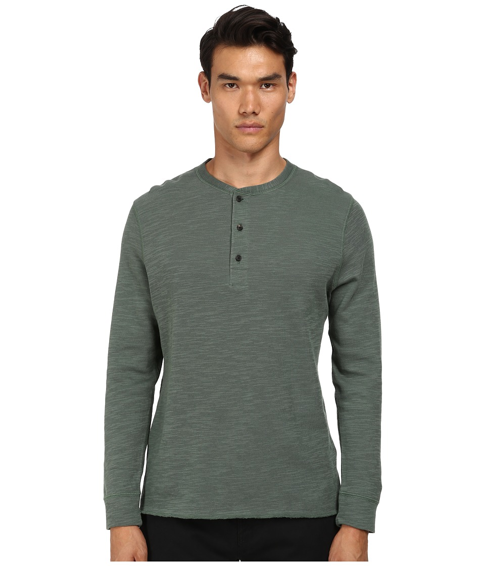 Billy Reid - Hunter Henley (Grey Green) Men's T Shirt