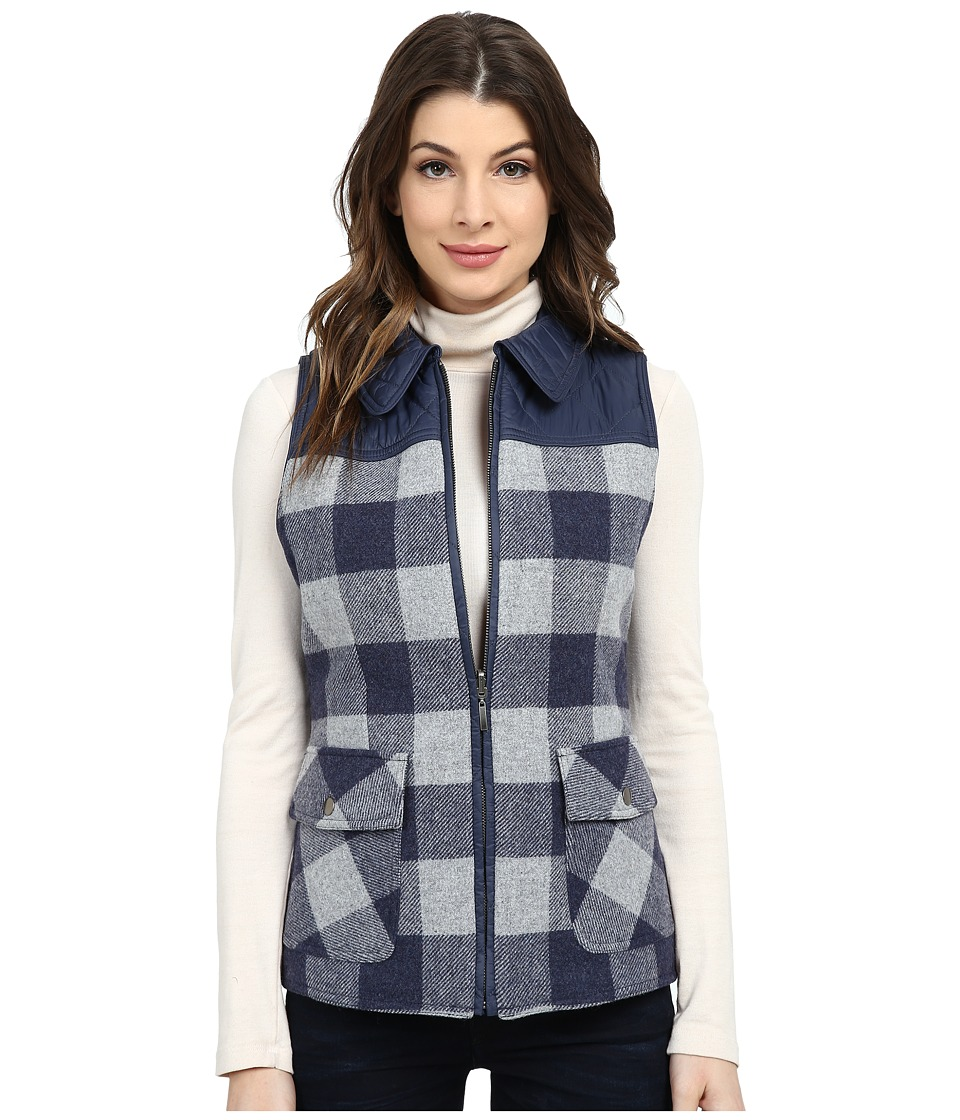 Pendleton - Hillside Vest (Denim Mix/Soft Grey Mix Check) Women's Vest