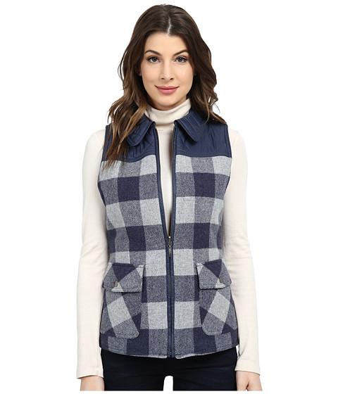 Pendleton - Hillside Vest (Denim Mix/Soft Grey Mix Check) Women