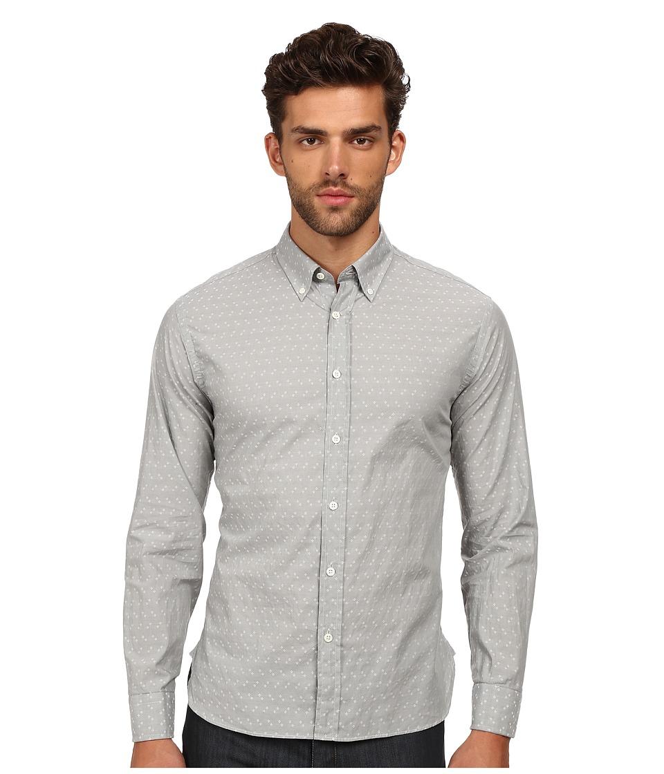 Billy Reid - Murphy Top (Light Grey) Men's Long Sleeve Button Up