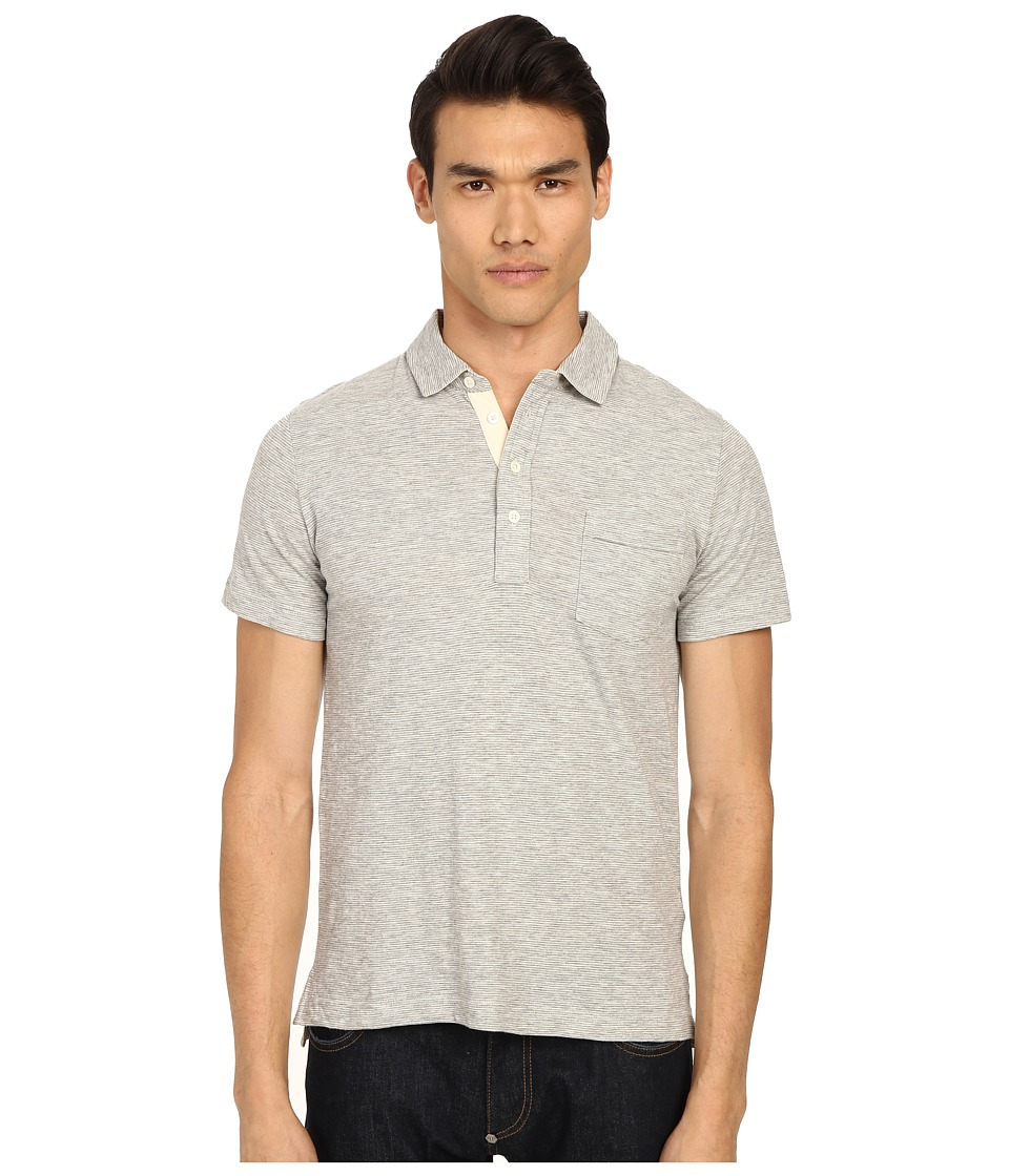 Billy Reid - Short Sleeve Pensacola Polo Shirt (Light Grey) Men's Short Sleeve Knit